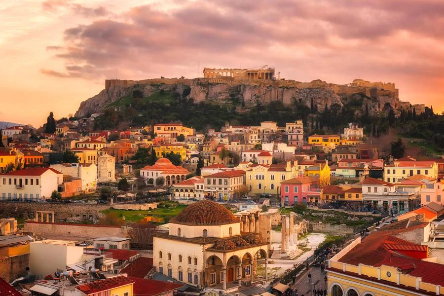 Atenas, Mykonos e Santorini do Porto