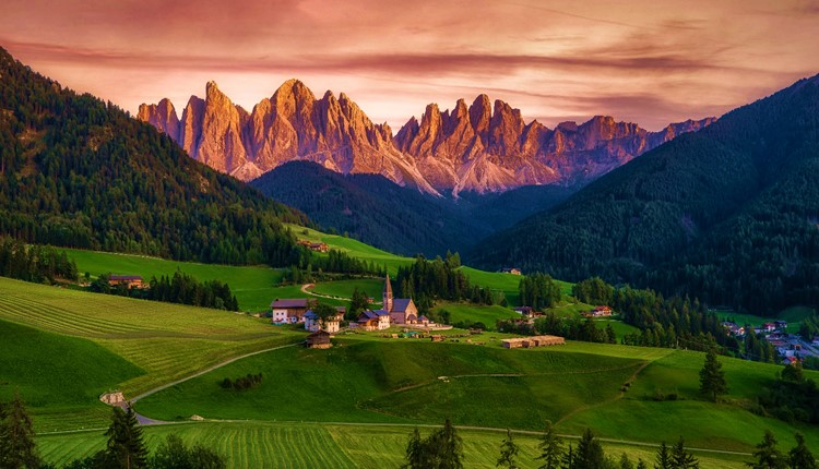 As Dolomitas e o Tirol Italiano