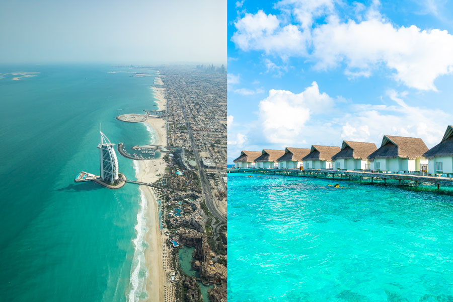 Combinado Dubai e Maldivas