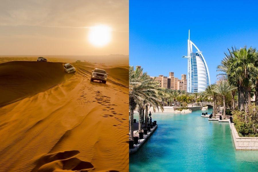 Combinado Deserto + Dubai (voos noturnos)