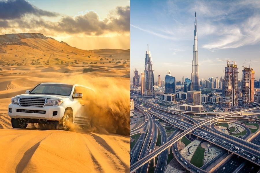 Combinado Deserto + Dubai ( voos diurnos)